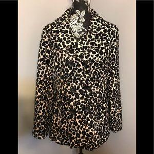 💕Apt 9 Leopard Print Dbl Breasted Coat, NWOT Sz L